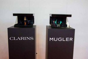 Clarins - Teche con ologrammi