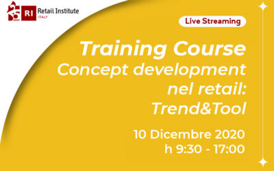"Training Course ""Concept Development nel Retail: Trend & Tool"" – 10/12/2020"