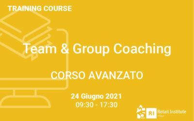 "Training Course ""Team & Group Coaching"" – AVANZATO – 24 giugno 2021"