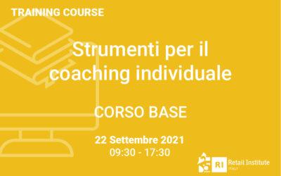 """Training Course """"Strumenti per il coaching individuale"""" – BASE – 22 settembre 2021"""