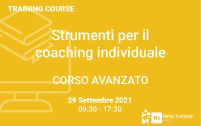 """Training Course """"Strumenti per il coaching individuale"""" – AVANZATO – 29 settembre 2021"""