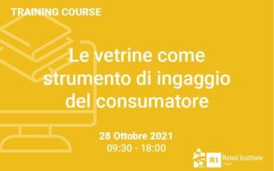"""Training Course """"Le vetrine come strumento di ingaggio del consumatore"""" – 28 ottobre 2021"""