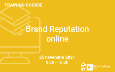 "Training Course ""Brand Reputation Online"" – 25 novembre 2021"